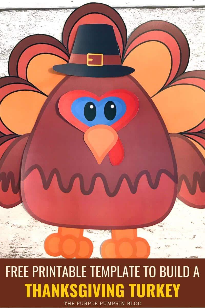 Paper Turkey Craft for Thanksgiving