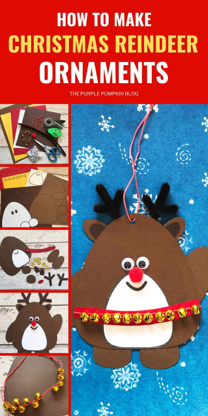 how to make Christmas reindeer ornaments