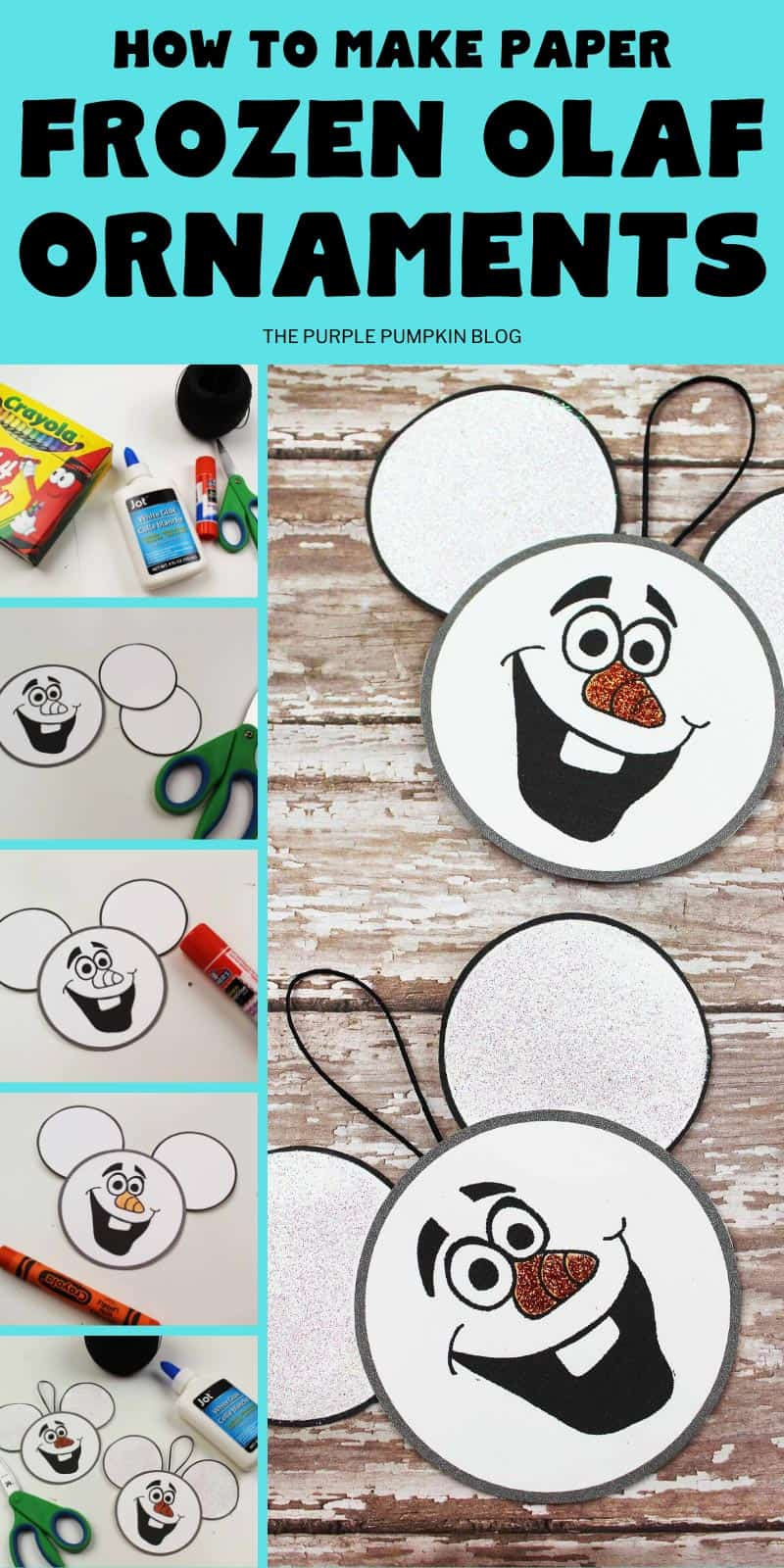 how to make frozen olaf ornaments