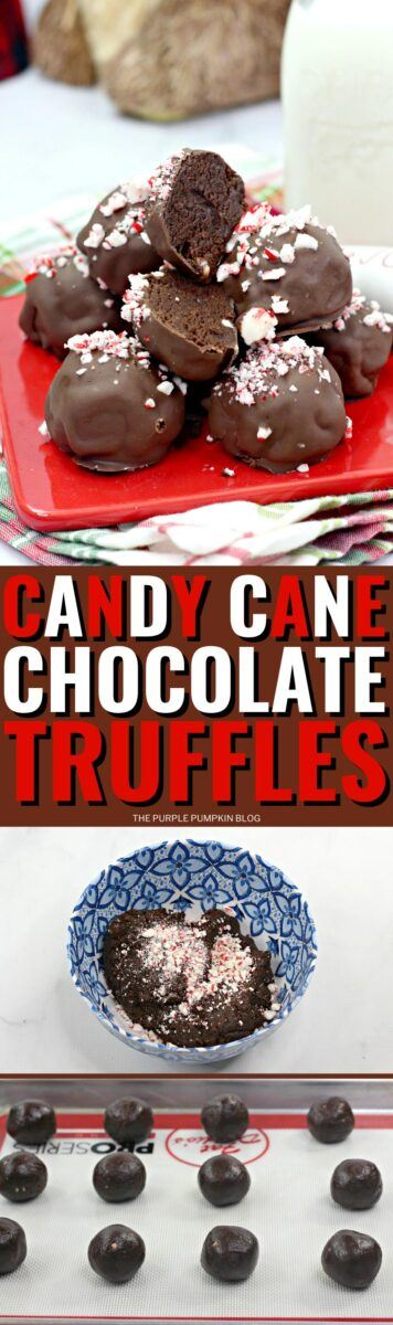 Candy Cane Chocolate Truffles