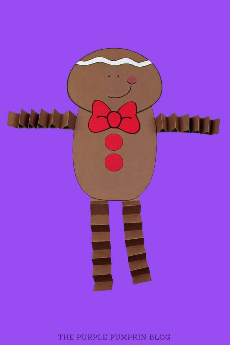Accordion Gingerbread Boy Paper Craft