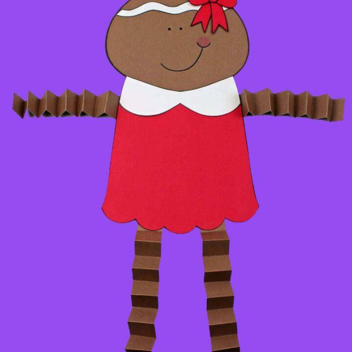 Accordion Gingerbread Girl Craft
