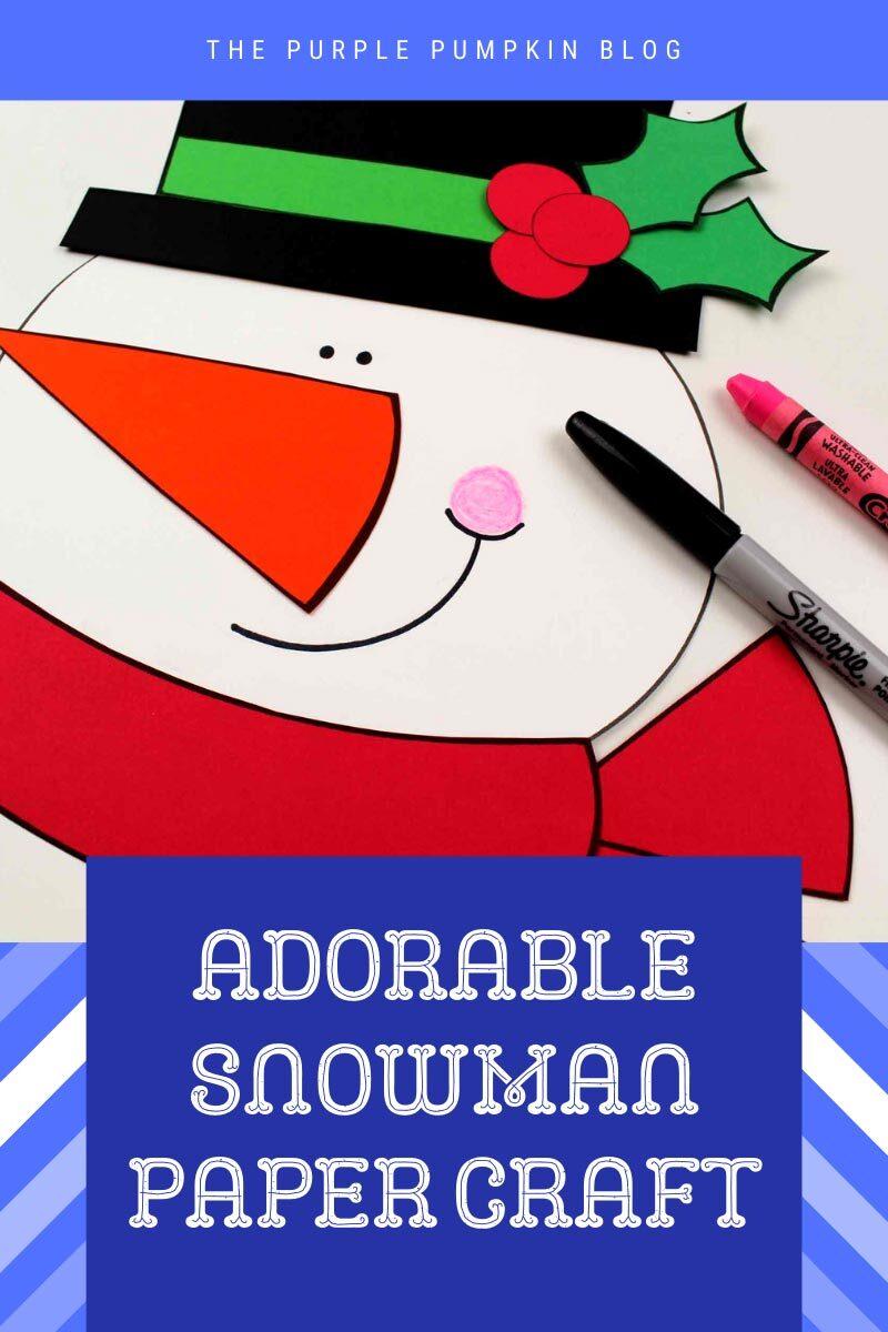 Adorable Snowman Paper Craft