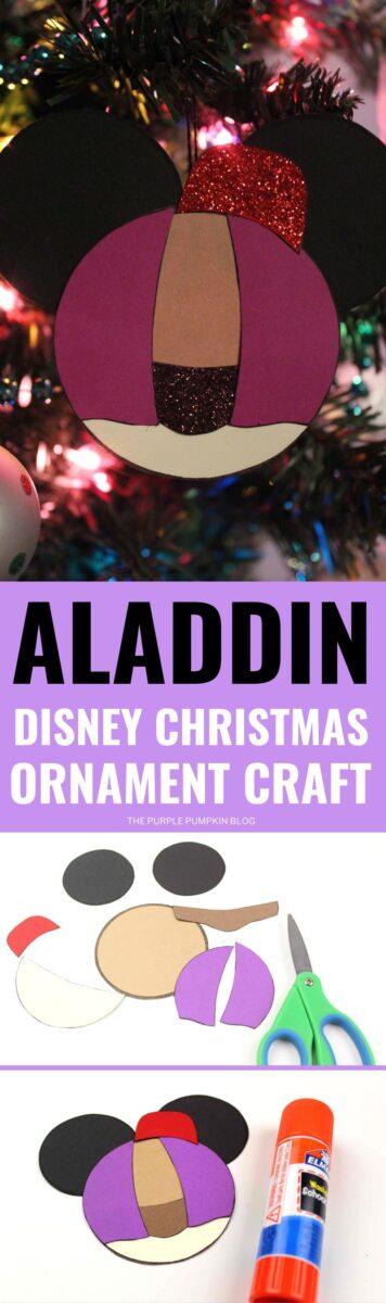 Aladdin Disney Christmas Ornaments Craft