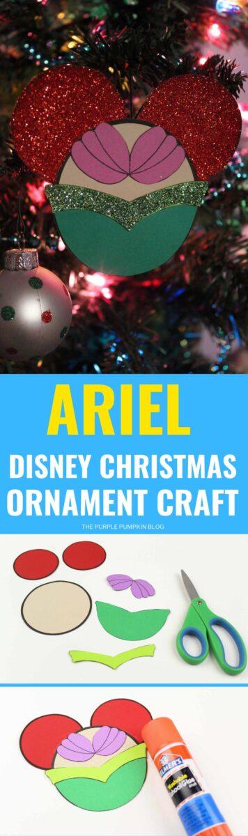 Ariel Disney Christmas Ornament Craft