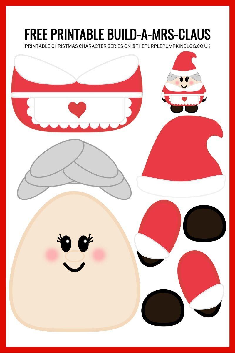 Free Printable Build A Mrs Claus Template