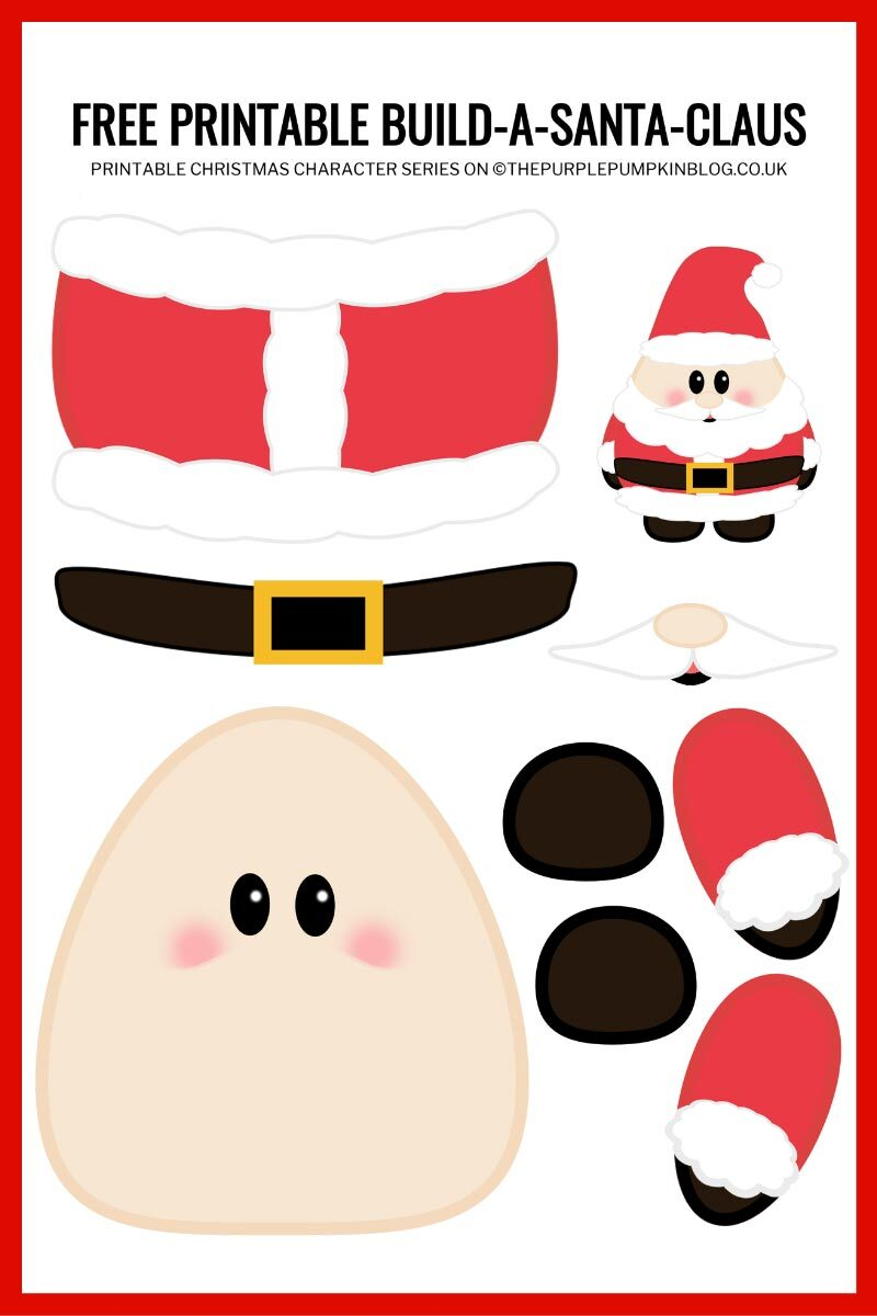Build A Santa Template Printable