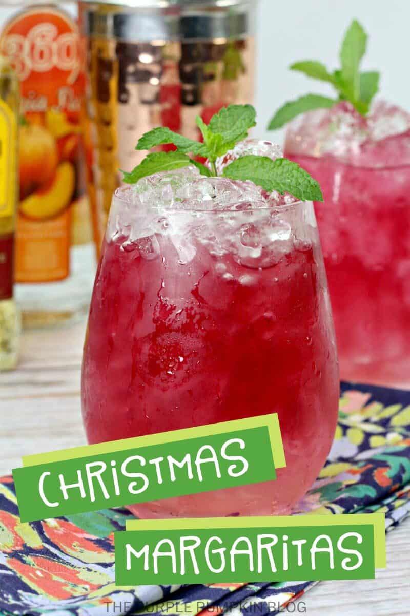 A glass of Christmas Margarita