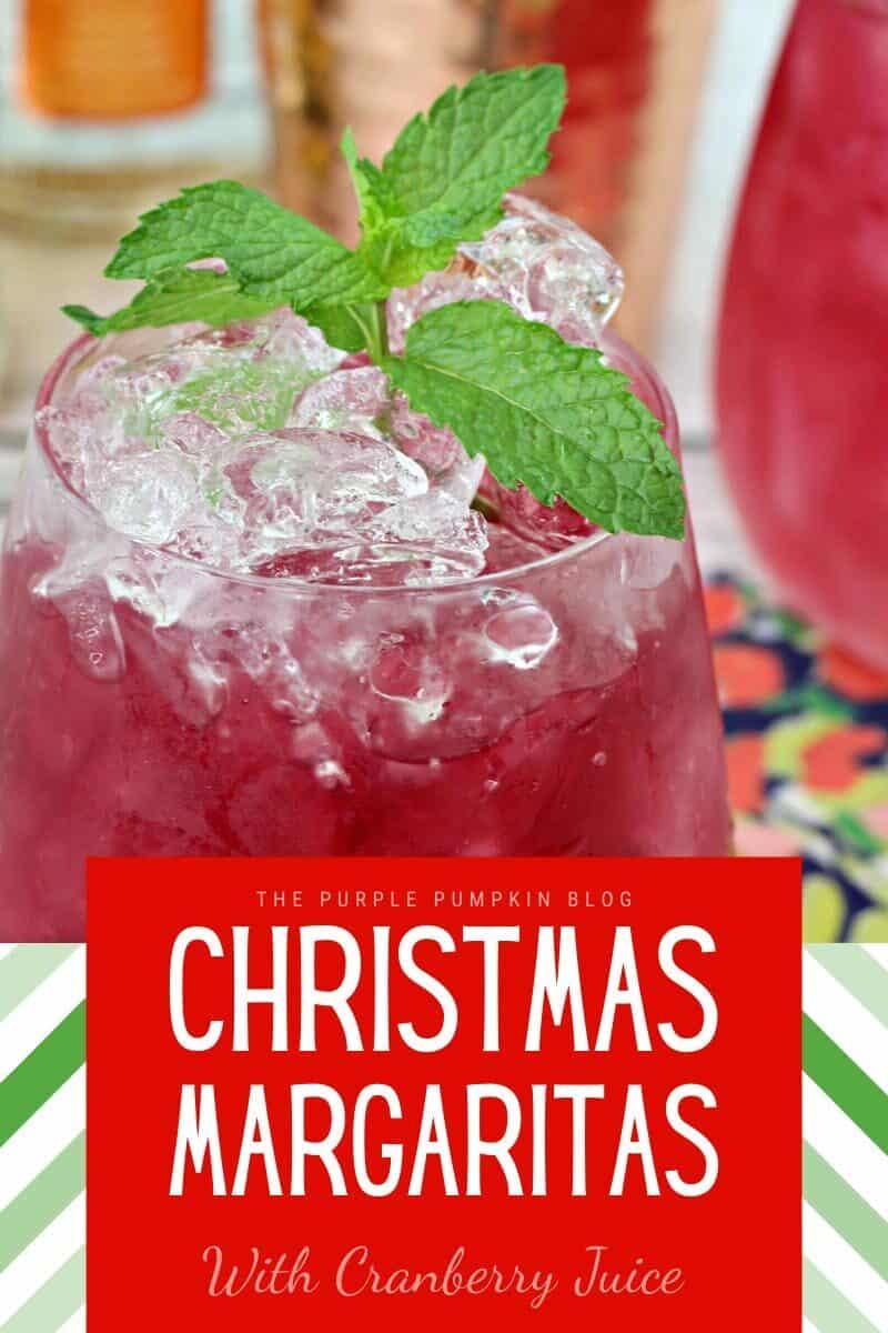 A close up of Christmas Margaritas