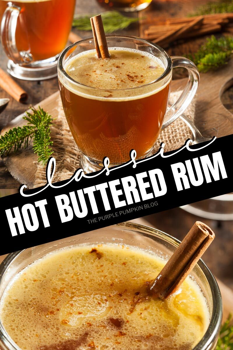 Classic Hot Buttered Rum Cocktail