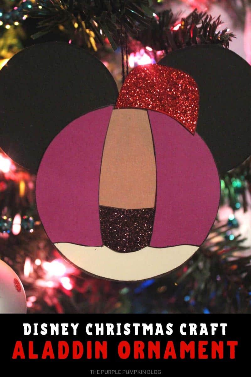 Disney Christmas Craft Aladdin Ornament