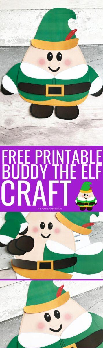 Free Printable Buddy the Elf Craft