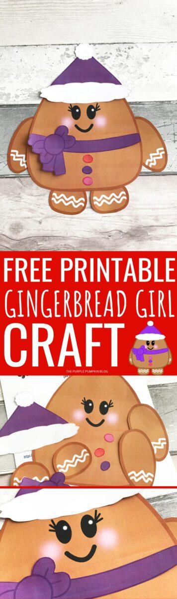 Free Printable Gingerbread Girl Craft