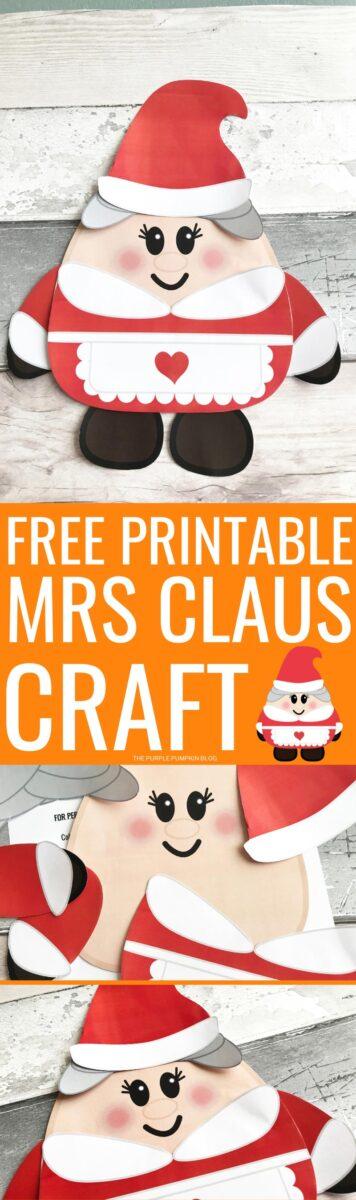 Free Printable Mrs Claus Craft