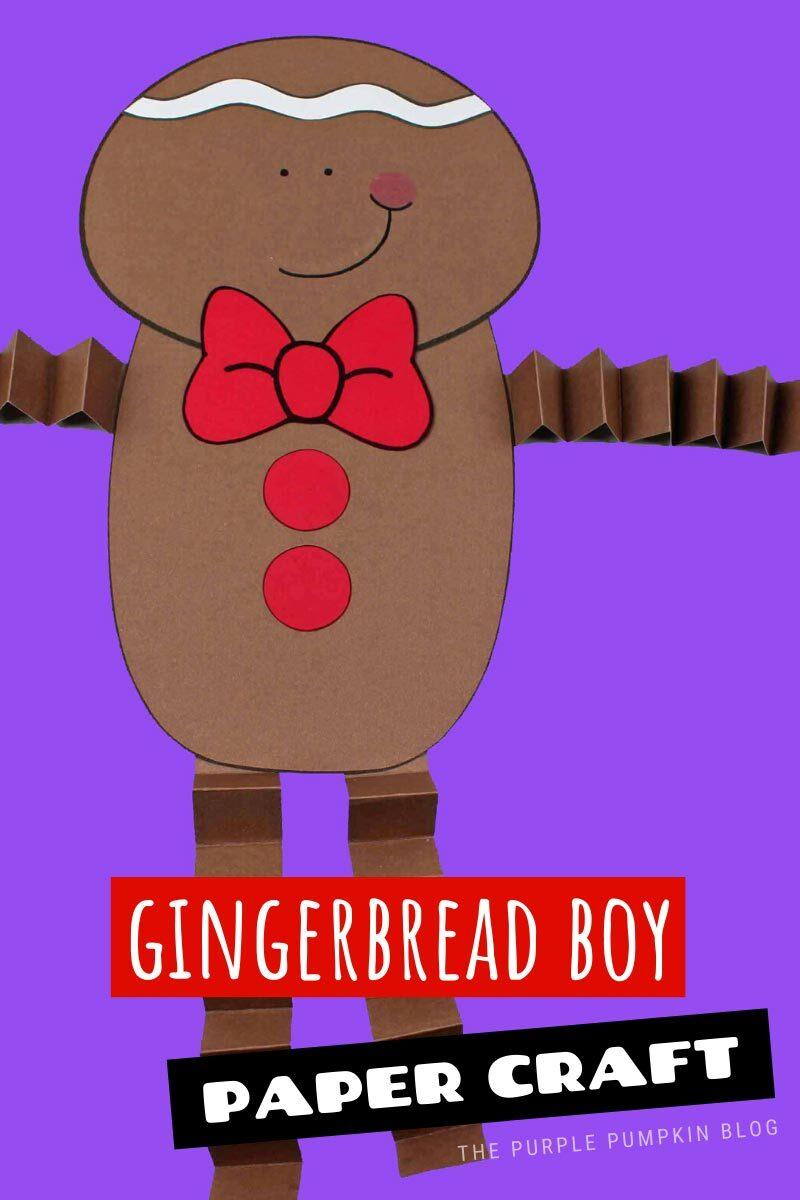 Gingerbread Boy Paper Craft