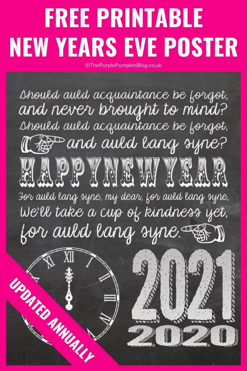 Goodbye 2020 NYE Poster Printable