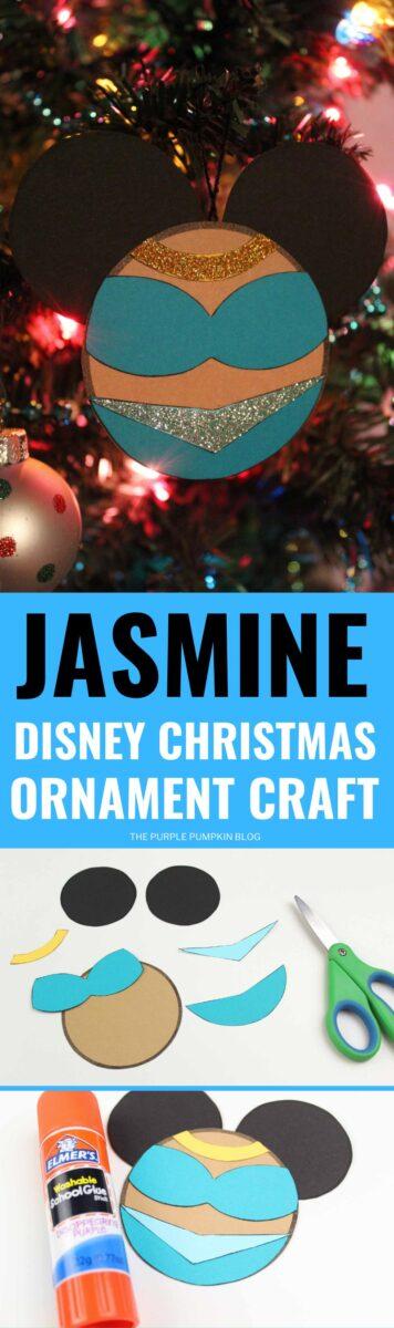 Jasmine Disney Christmas Ornament Craft