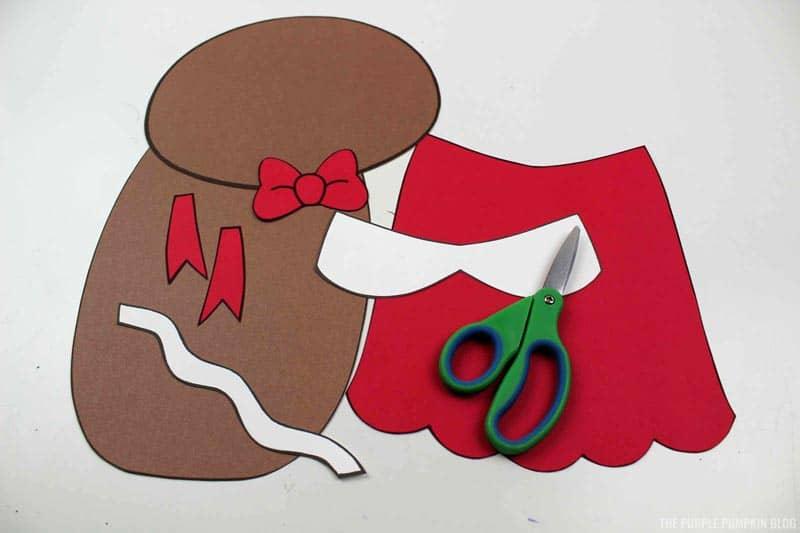 Gingerbread Girl Cut Pieces