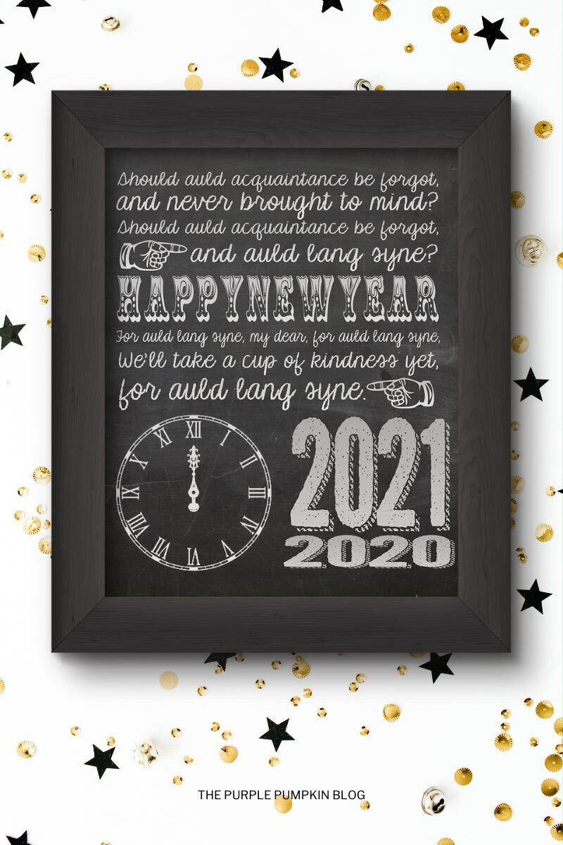 Printable New Years Eve Poster