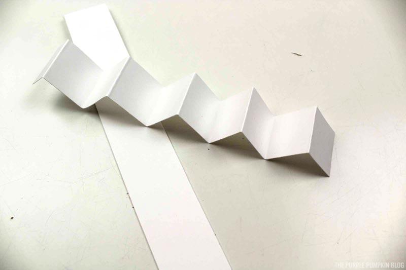 accordion folded paper