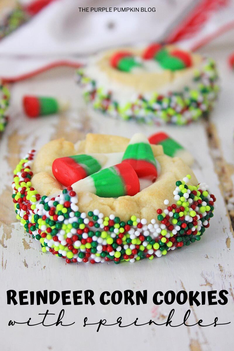 Reindeer Corn Cookies with Sprinkles