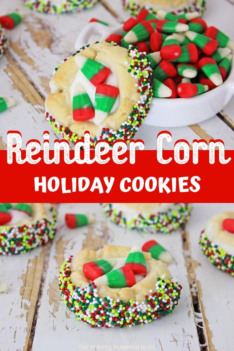 Reindeer Corn Holiday Cookies