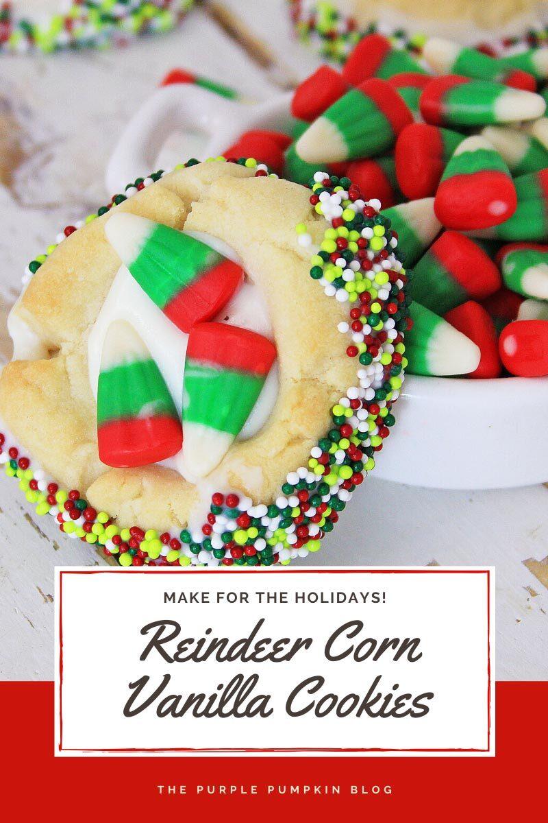 Reindeer Corn Vanilla Cookies