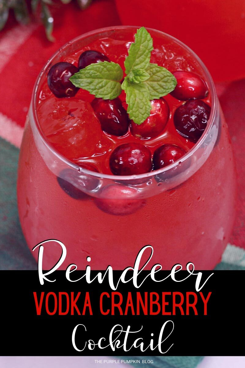 Reindeer Cocktail with Vodka & Cranberries