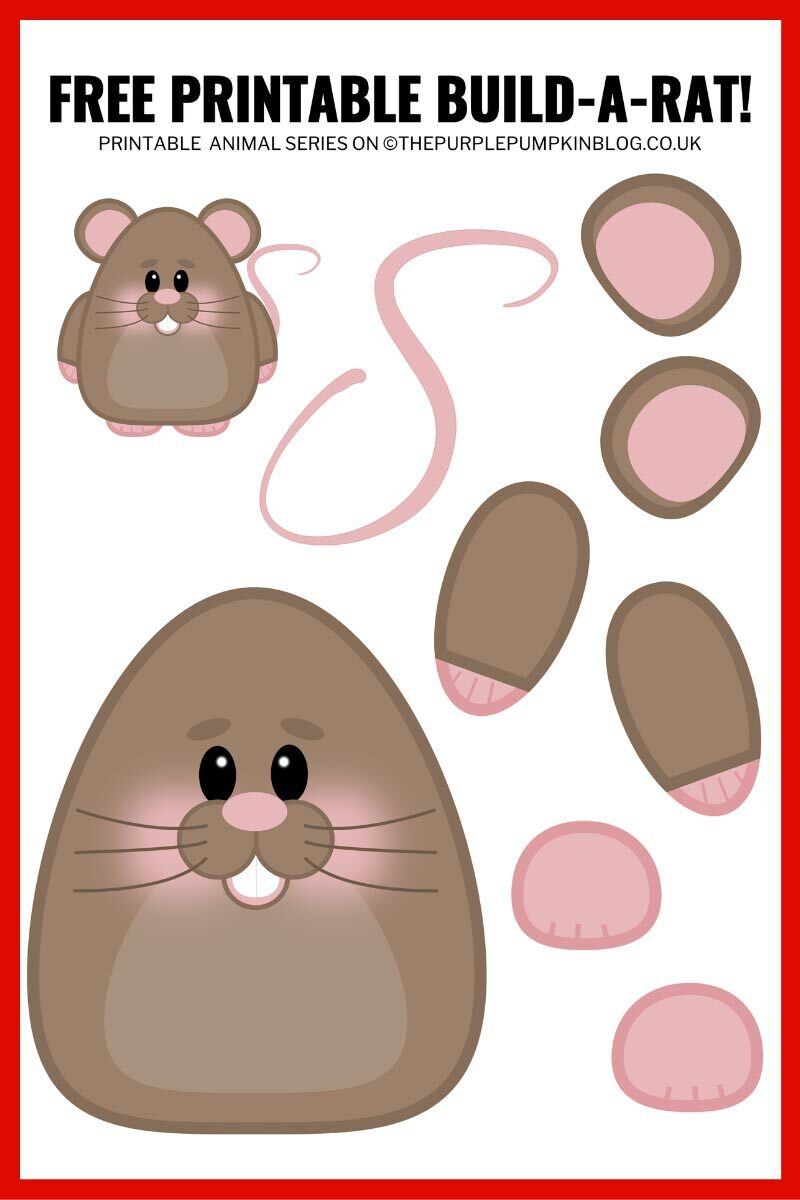 Free Printable Build-A Rat - Paper Rat Template
