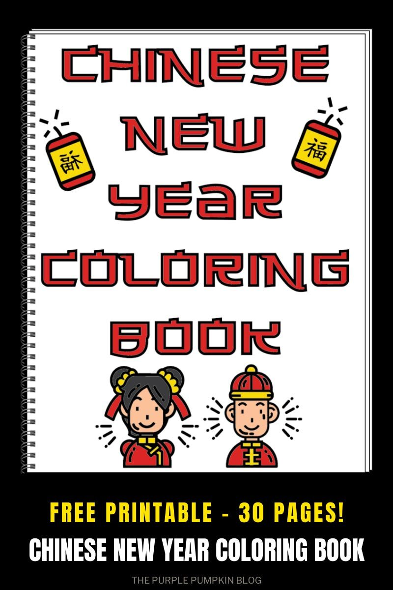 Free Chinese New Year Coloring Book Printable