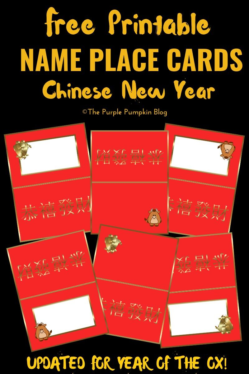 CNY Name Place Cards Free Printable