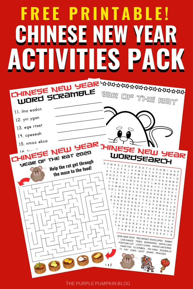 Free Printable Chinese New Year Activities Pack