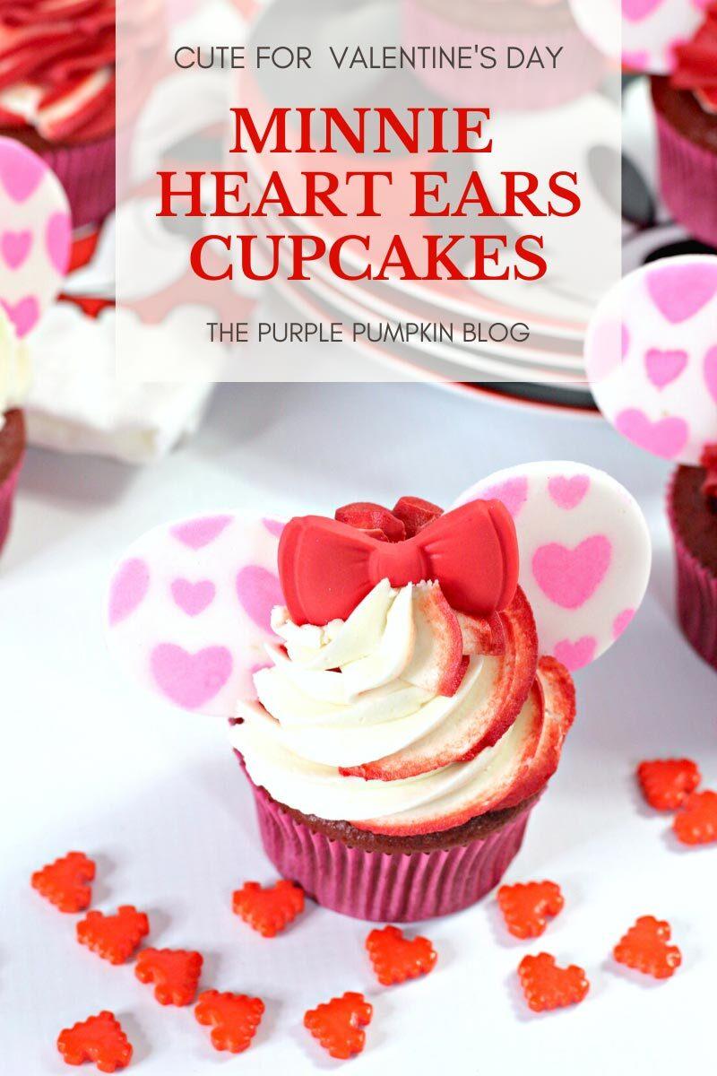 Minnie Heart Ears Cupcakes (2)