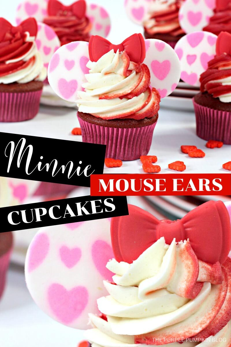 Minnie Mouse Ears Cupcakes