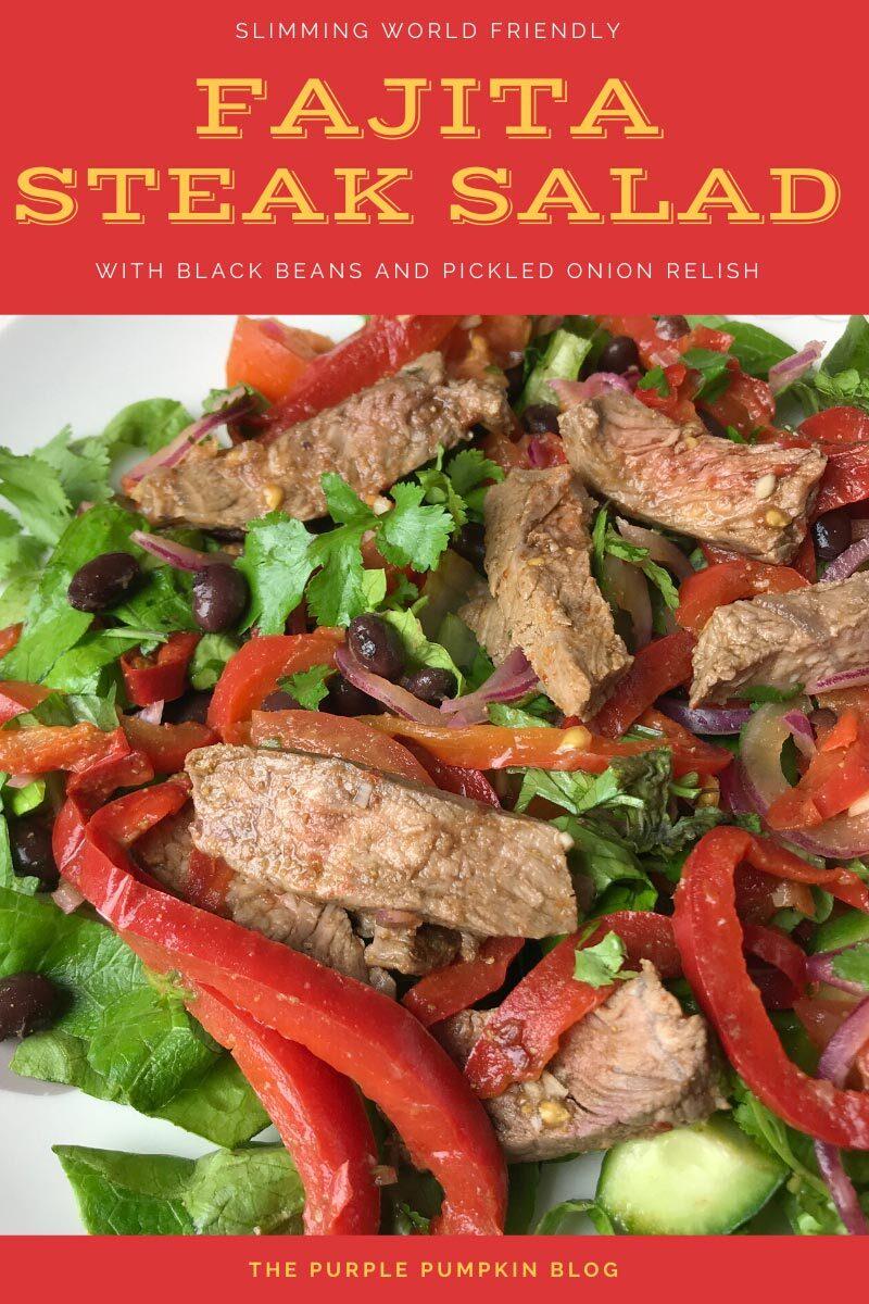 Slimming World Friendly Fajita Steak Salad