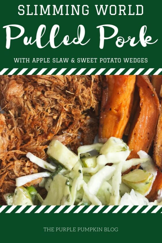 Slimming World Pulled Pork with Apple Slaw and Sweet Potato Wedges