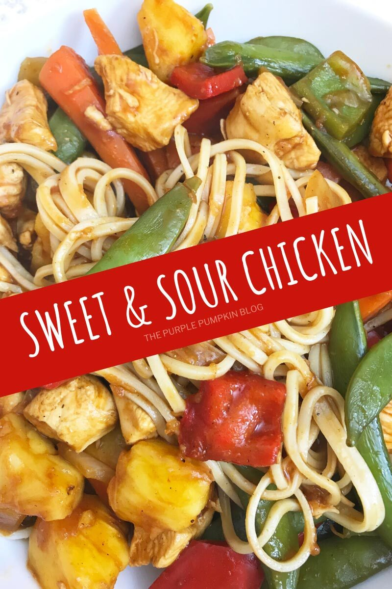 sweet sour chicken noodles
