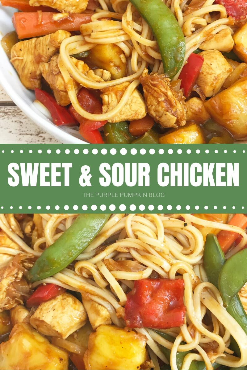bowl of sweet and sour chicken stir-fry