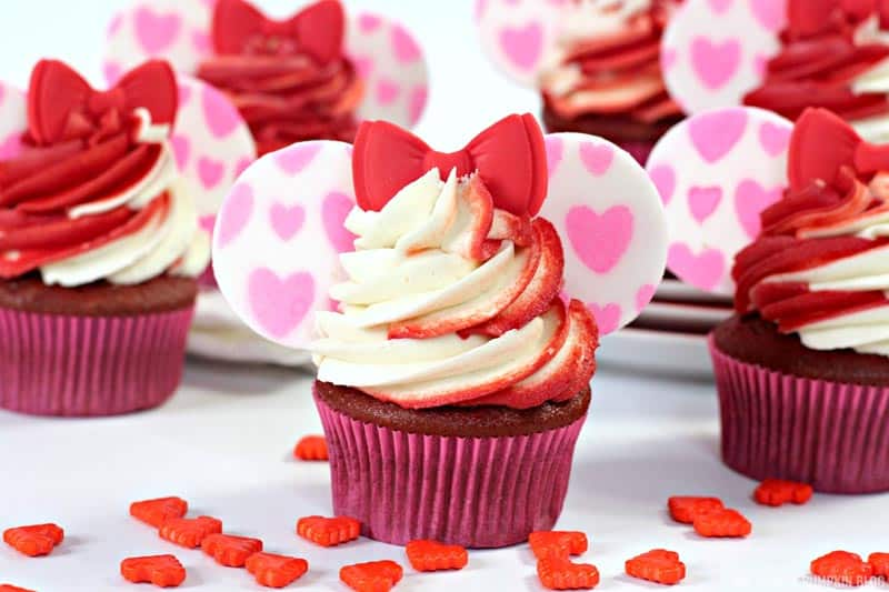 Valentine's Day Minnie Mouse Cupcakes
