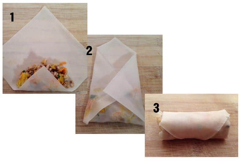 How to fold a spring roll