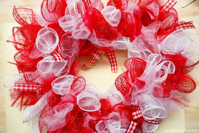 Completed Deco Mesh Wreath