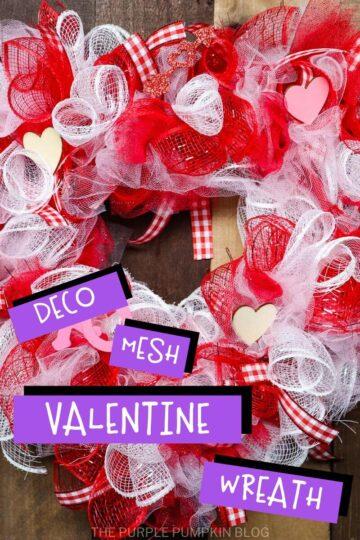 Deco Mesh Valentine Wreath