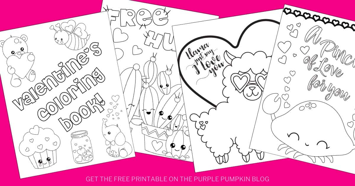 Valentine's Day Coloring Book Free Printable Valentine's Coloring Pages