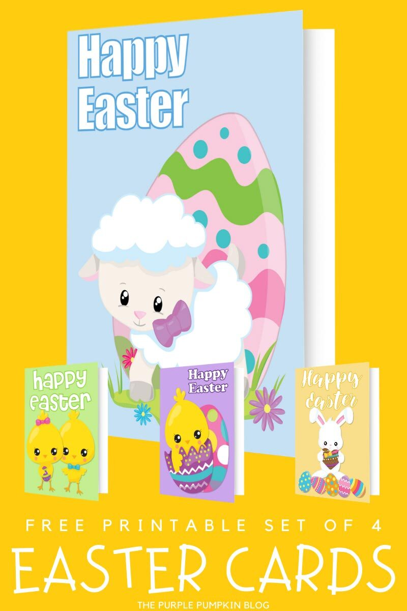 Free Printable (Lamb) Easter Cards