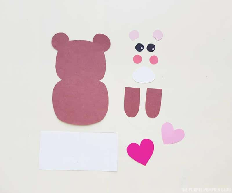 cut bear pieces