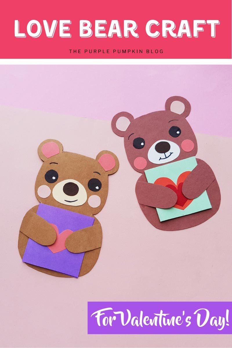 Love Bear Craft for Valentine's Day