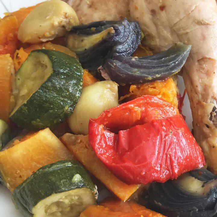 Slimming World Roast Chicken Legs & Vegetables