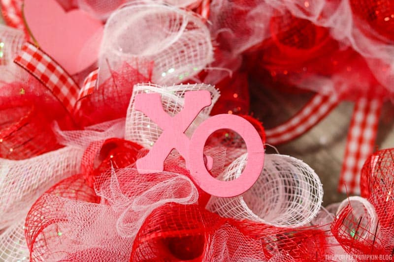 Using Hot Glue to attach XO letters