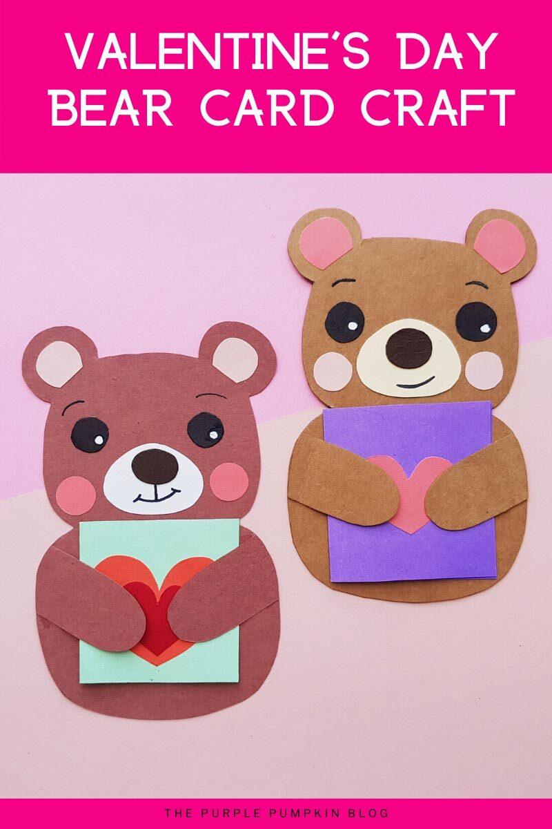 Valentine's Day Bear Card Craft