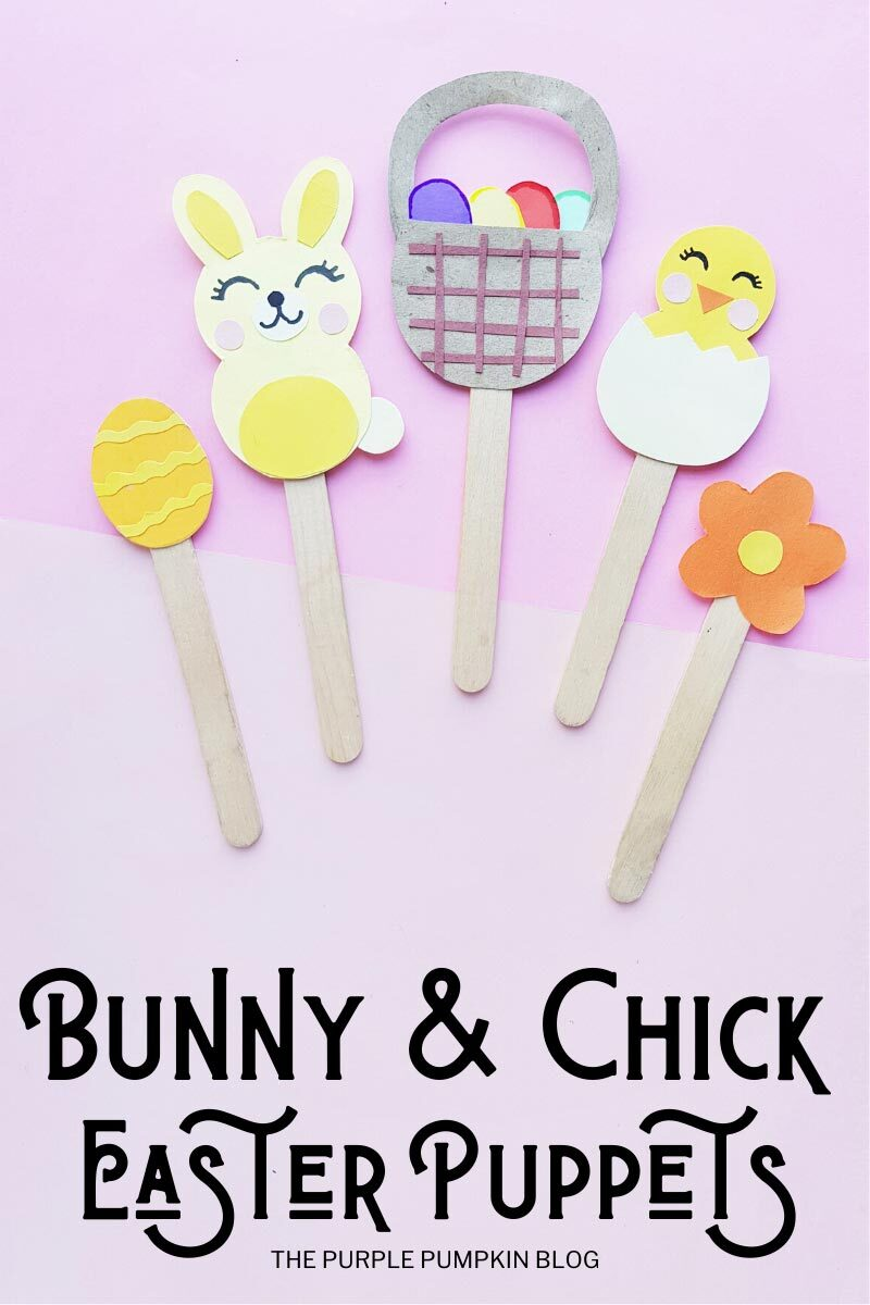 Bunny & Chick Easter Puppets